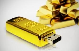 USB Lingote de oro. 16 ó 32 GB 19,90€